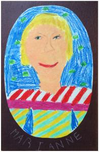 Autoportrait par Marianne Dubuc à 8 ans